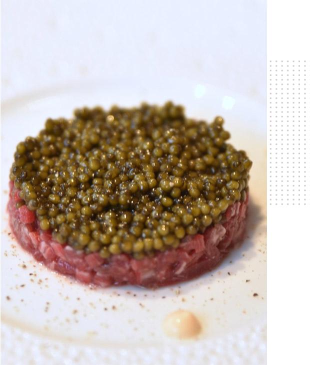 Recette caviar Lazar - Tartare de boeuf
